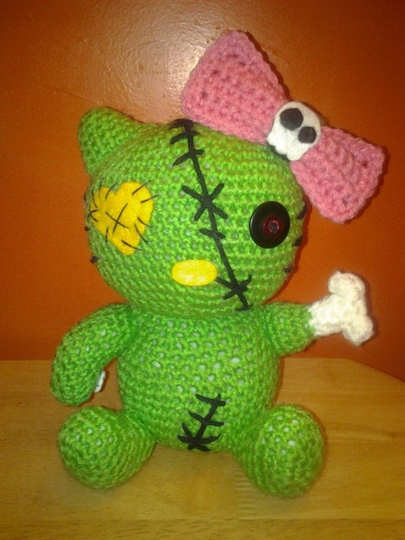 Crochet Zombie Patterns : PATTERN - Zombie Kitty Amigurumi - Crochet Amigurumi Pattern