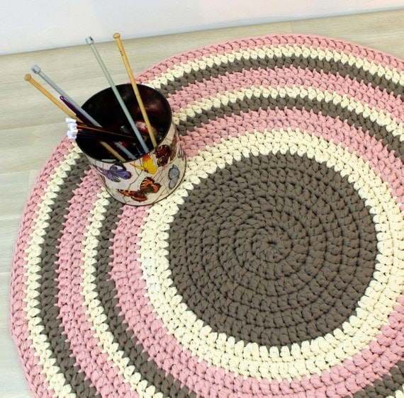 Children Rug Cotton Rug Crochet Rug Round Rug Knitted Rug