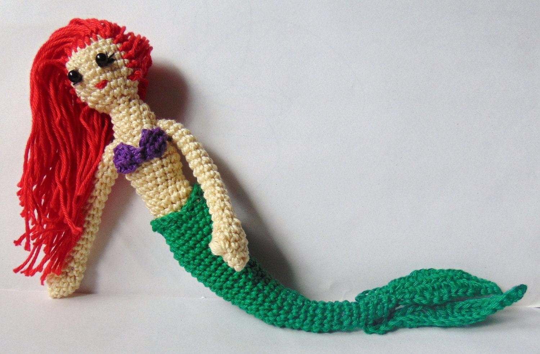 Disney Amigurumi Crochet Patterns : Disney Princess Ariel Amigurumi Crochet by TharunDharansMom