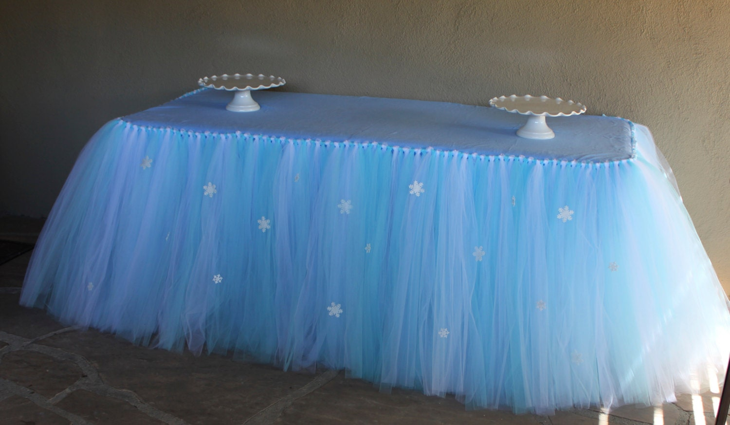 Buffet table skirting - Frozen Inspired Tutu Table Skirt Frozen Party By Piamiaboutique