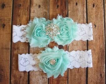 Wedding Garter Set Toss Lace Seam Foam Bridal