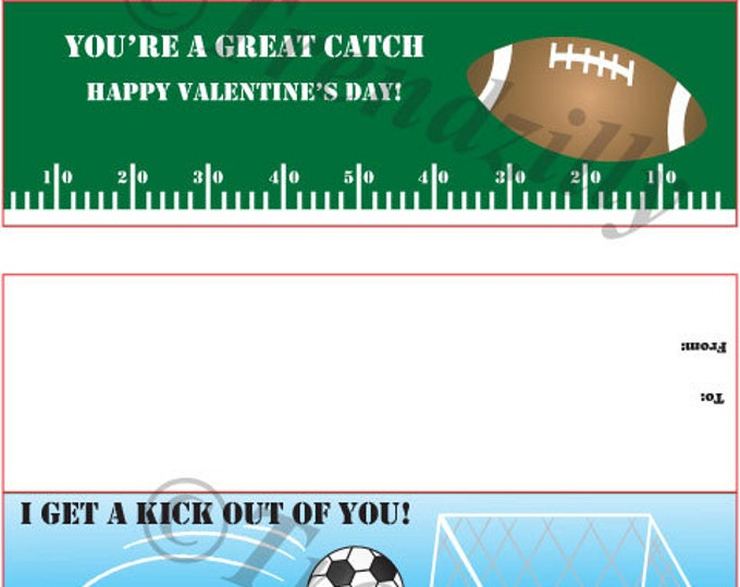 Sports Bag Topper Valentine, Valentine's Day, Boy Valentines, Kids Valentine, Printable Instant Download, Football, Soccer, Baseball.