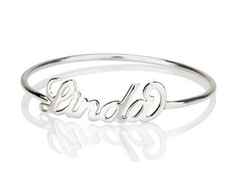 30% OFF! Personalized Name Ring in Sterling Silver • Custom Name Ring • Up to 20 Letters • MOTHER'S GIFT RM02F09