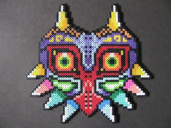 Majora,s Mask, Máscara de la saga Zelda en Hama beads