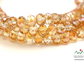 Crystal Rondelle,6MM X 8MM,Rondelle Shaped Crystal,Chinese Crystal, Full Strand #CRY061958