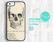 Vintage Skull iPhone 5C case, iPhone 5C hard case, cover skin case for iPhone 5C ( Hard or White side )