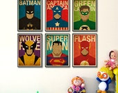 """Superheroes 8""""x10"""" Posters - Set of 6 Posters"""