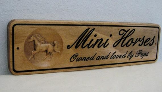 Custom 3d Horse Name Stall Sign 3 Door Name Plate Horse