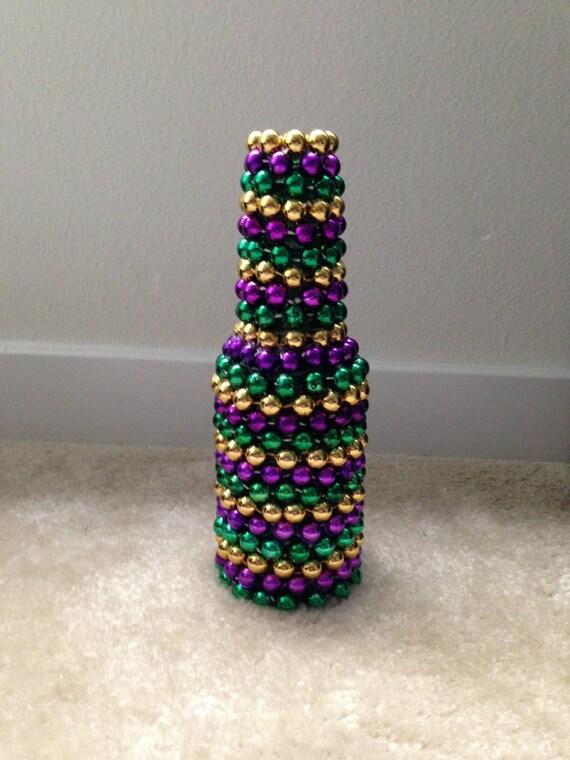 mardi gras bead single flower vase