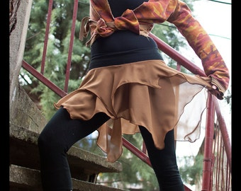 Bull In The Heather - Pixie Festival Skirt, Fairy Double layered skirt