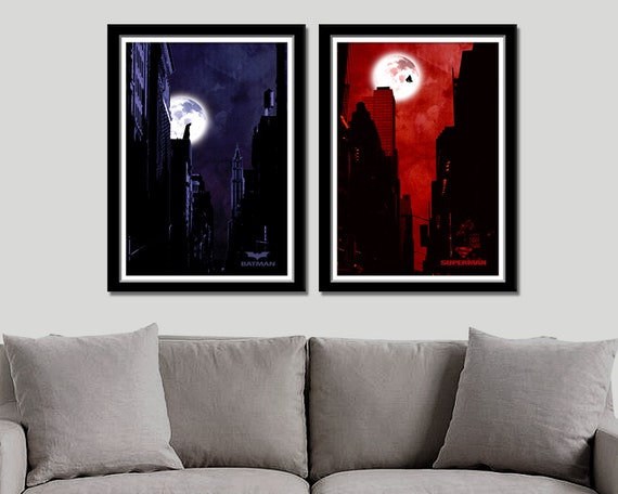 Superman Minimalist Movie Poster Home Decor