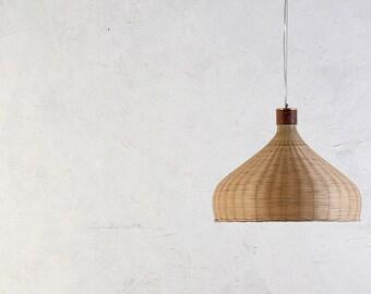 Bamboo And Wood Basket Pendant Lamp   Ceiling Lamp   Hanging Lamp   Lamp  Set
