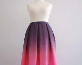 Summer - ombre chiffon skirt / flowy skirt / summer skirt / ombre skirt / two toned