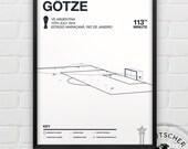 Mario Götze vs Argentina Giclee Print