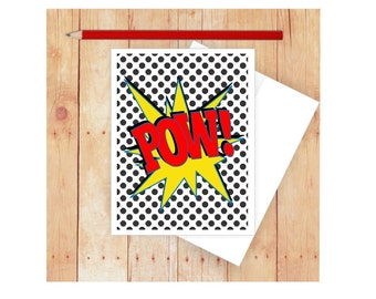 superhero note cards  etsy, Birthday card