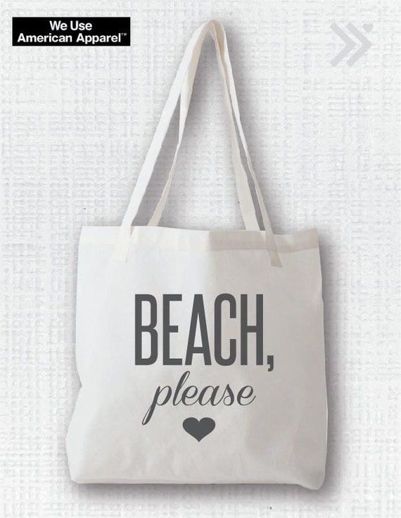 Beach Please Canvas Tote Bag by everfitte on Etsy