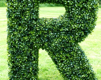 Artificial Boxwood Letters