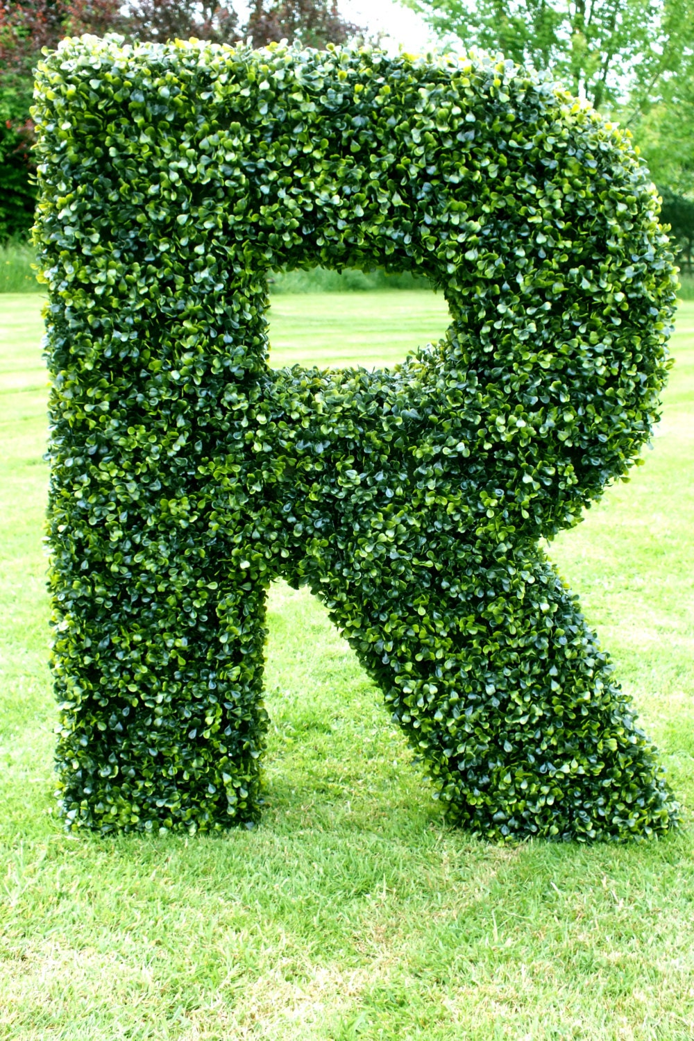 artificial boxwood letters With boxwood letters