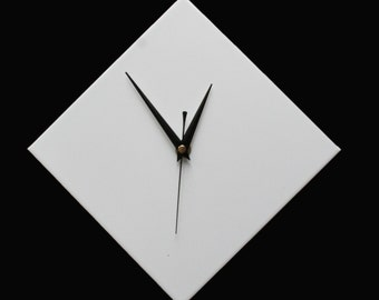 CLC Contemporary White Diamond Wall Clock 20cm
