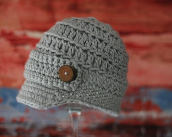Infant Boy Hat, Crochet Hat, Newborn Hat, Knitted Baby Hat, Baby Hat, Baby Shower Gift, Photo Prop, Baby Boy Clothes, Coming Home Outfit