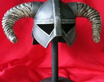 Elder Barbarian Viking Helmet, Resin Cast for Cosplay