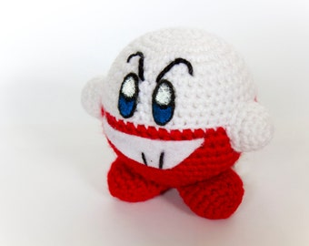 Crochet Electrode Kirby Amigurumi **Made to order**