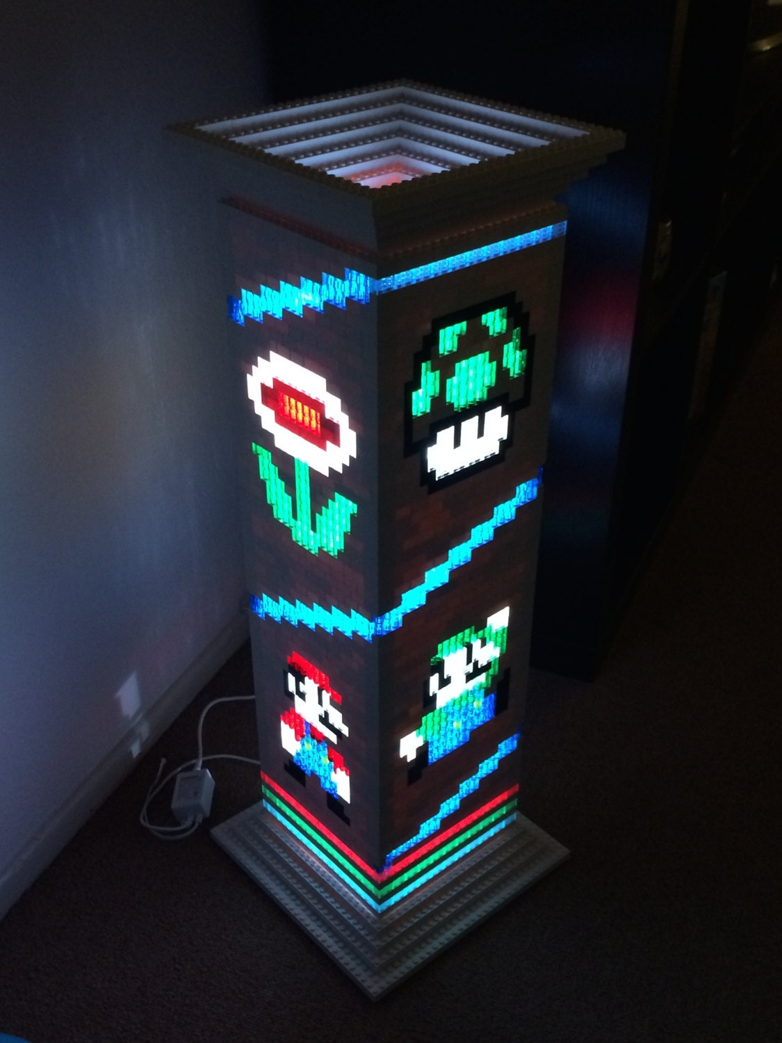 Mario Brothers Themed Lego Lamp Night Light