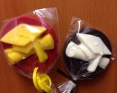 12 graduation chocolate lollipops