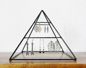 Small Welded Jewelry Display Pyramid in Gloss Black - Made to Order