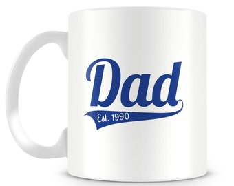 Dad mug. Established design. Perfect Father's Day gift
