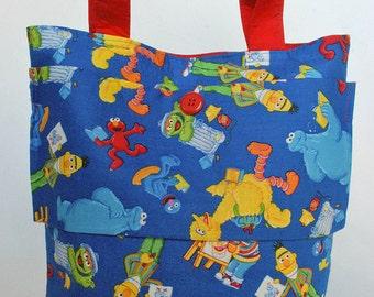 Sesame Street Bag, Children's Tote Bag, Toddler  Bag, Child Bag, School Bag, Travel Bag, Sesame Street, Sesame Street Birthday Party