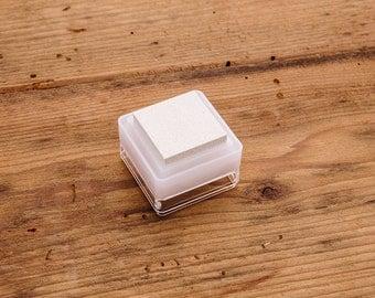 White Stamp Ink Pad - Mini Cube