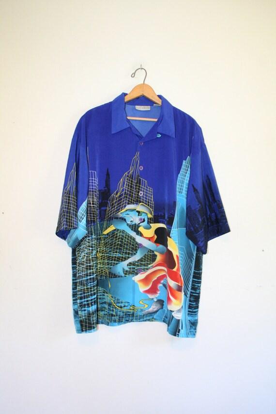 Digital Rapper Shirt Size Xx Large 90s Button Down