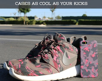 Nike Roshe Run Pink Camo Case for iPhone 7 iPhone 7S 5C iPhone 4 iPhone 4S and Samsung Galaxy  & s7 S8 Plus Phone Case, Google Pixel