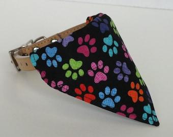 Colorful Paws Dog Bandana, Dog Scarf