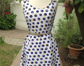 Lovely 1960s Dress with a tennis motif