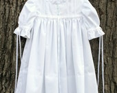 White Imperial Broadcloth Heirloom Dress for Toddler Girl - Heirloom Float Dress - Special Occasion Girls Clothing