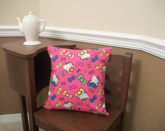 CLEARANCE! Hello Kitty Print Decorative Throw Pillow Cover 16 x 16
