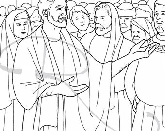Popular Items For Bible Coloring Page On Etsy border=