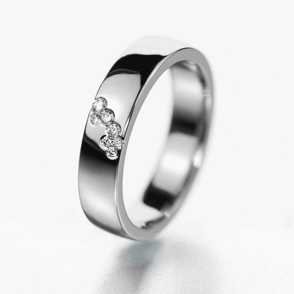 Unique diamond engagement ring simple diamond by KorusDesign