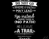 Leave a Trail - Instant Download