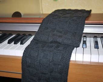 Hand knitted scarf for man