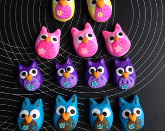Owl Clay Magnets