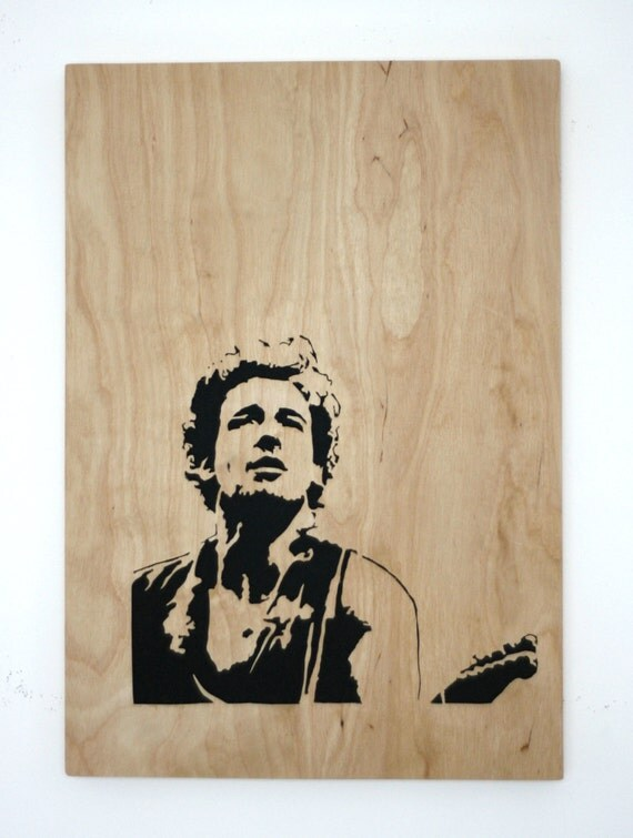Crafted wood cut picture capturing the essence of the boss