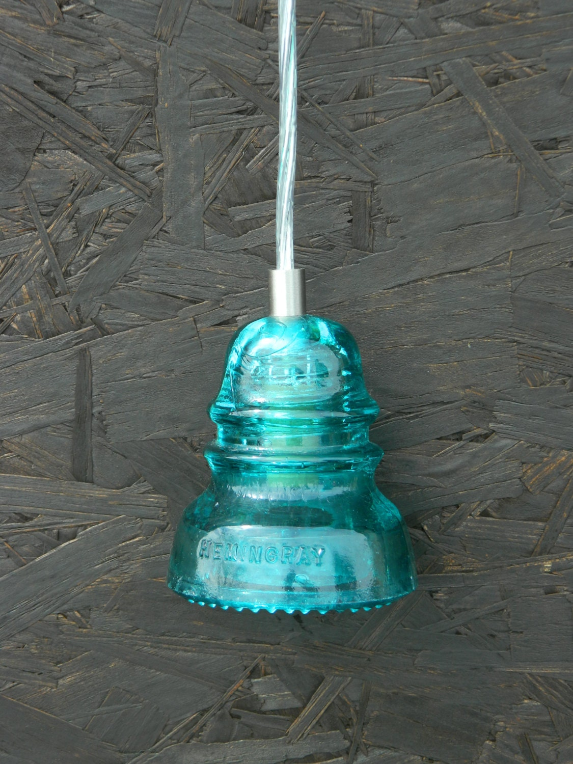 Antique Glass Insulator Hanging Pendant By Rusticcreeksalvage