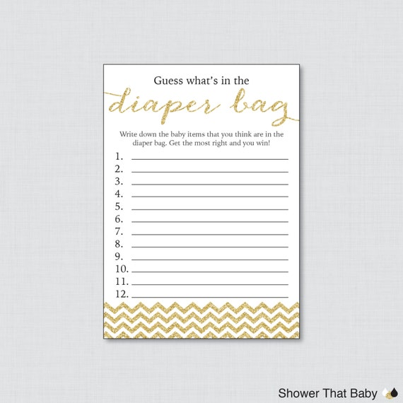 ... 778 New Baby Shower Game Guess Whatu0027s In The Diaper Bag 413 Baby Shower  Diaper Bag ...