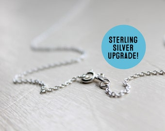 """Upgrade chain Sterling silver - Add to order 18"""" Sterling Silver trace chain."""
