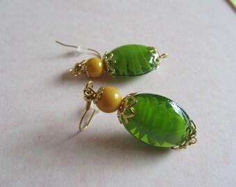 Green Earrings, Yellow Earrings, Summer Earrings,Birthday Gifts Women,Sale Earrings, Mothers Day Gifts, St Patty Earrings,Womans Accessory