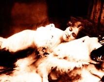 """Vintage Risque Nude Exotic - Boudoir #011 Canvas Art Poster 16"""" x 24"""""""