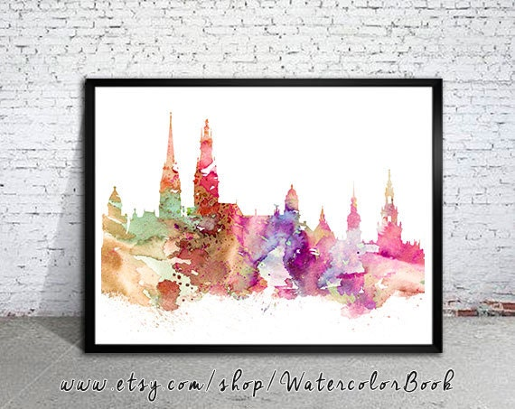 hamburg city skyline art print hamburg poster hamburg. Black Bedroom Furniture Sets. Home Design Ideas